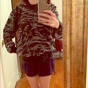 Alexander Wang Mesh Burnout Effect Wool Sweater